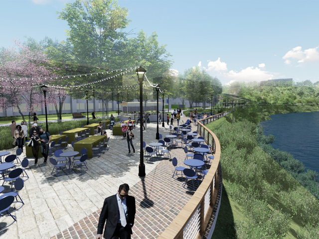 Artist's rendering of future Chippewa River overlook along Garfield Avenue