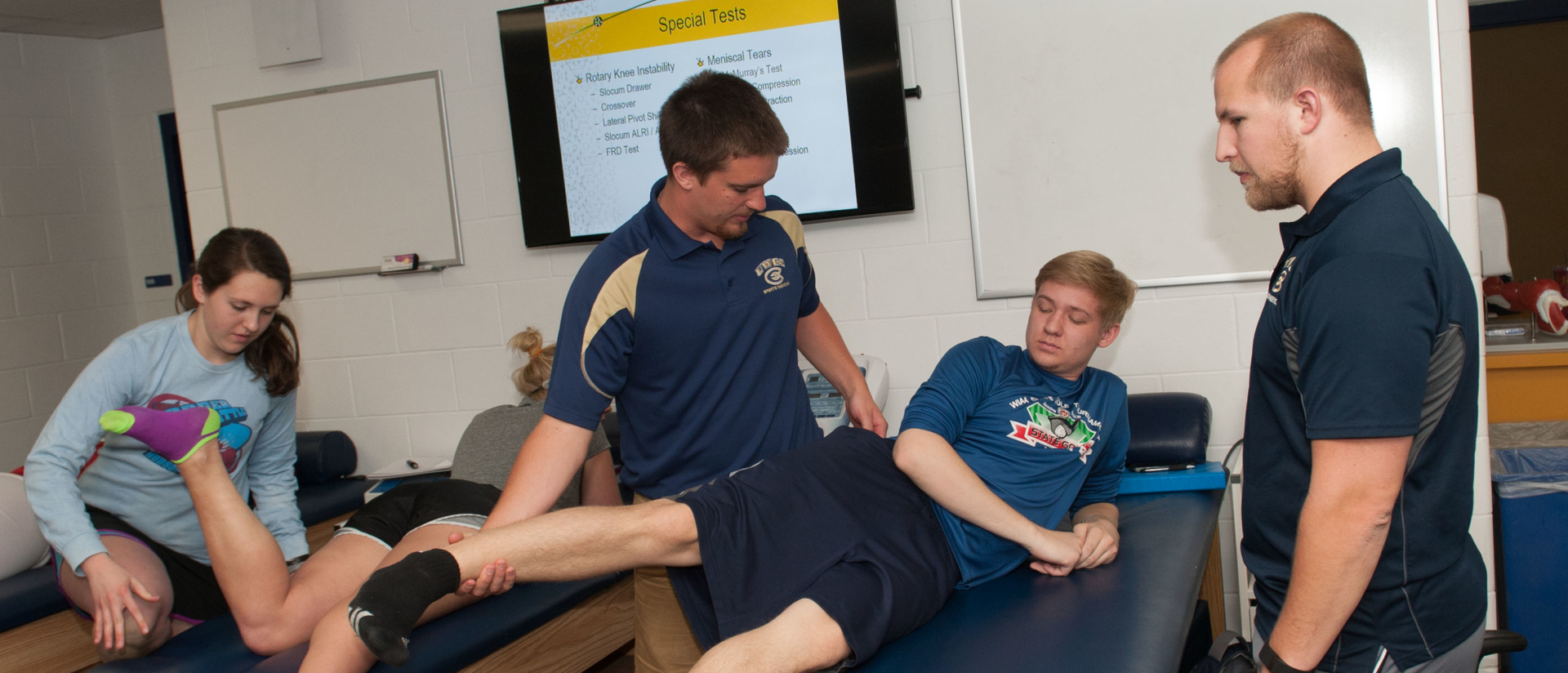 KINS students preparing to become athletic trainers