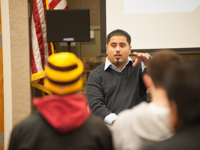 Student in Latin American Studies classroom at UW-Eau Claire