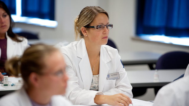 Students in a nursing course