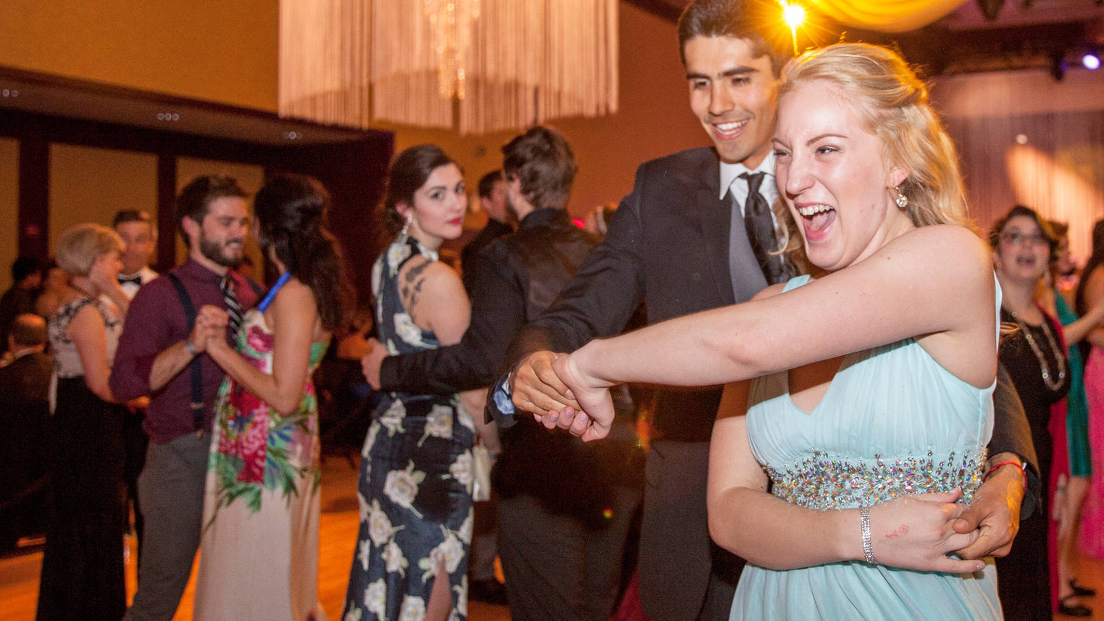 Dancers enjoy the festivities at the 2016 Viennese Ball