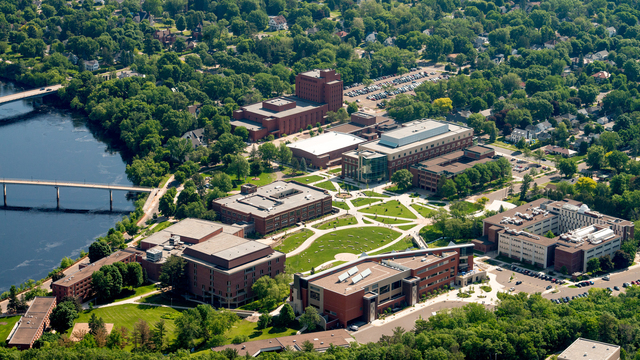 Aerial view of lower campus!