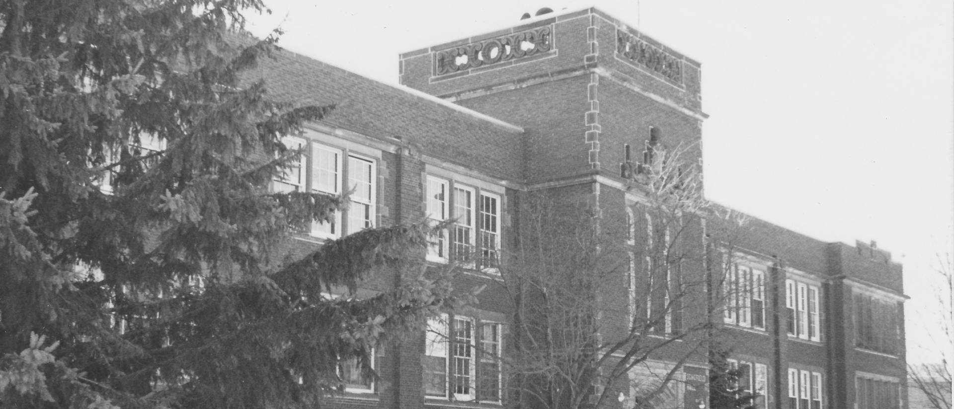 Picture of Schofield Hall taken from the Eau Claire Photo Archive