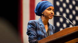 Rep. Ilhan Omar, the first Somali-American elected lawmaker in the country.