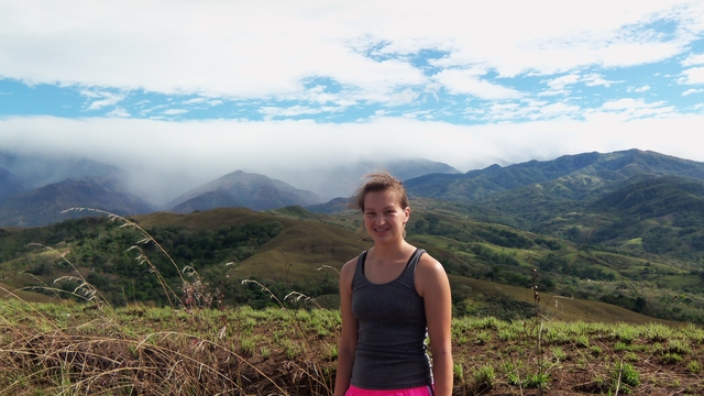 Courtney Brost on study abroad program in Costa Rica