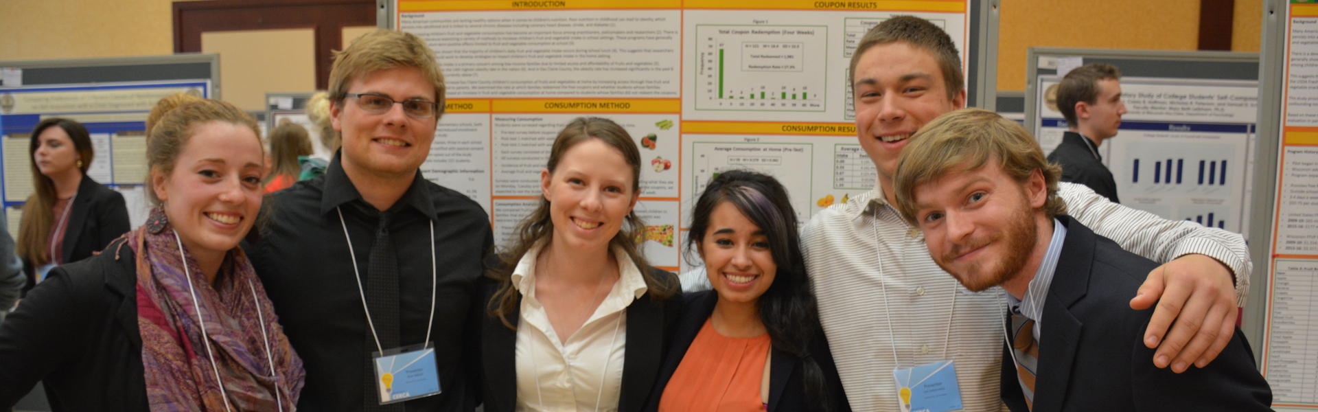 Economics student research team at CERCA presentation 2016