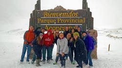Students on study abroad program in Argentina