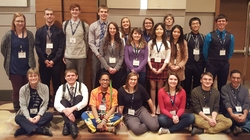 JMM 2017 - Group Photo with UWEC Students and Faculty - Atlanta, Georgia