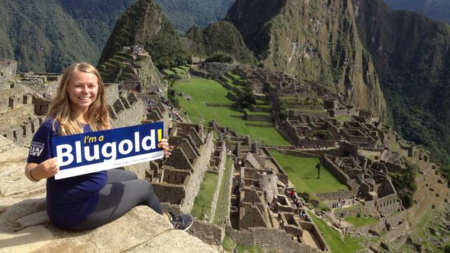 LAS minor Morgan Gerke at Machu Pich in Peru, where she completed an internship.