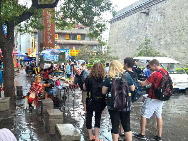 Eric Jamelske and students in China for climate change study.