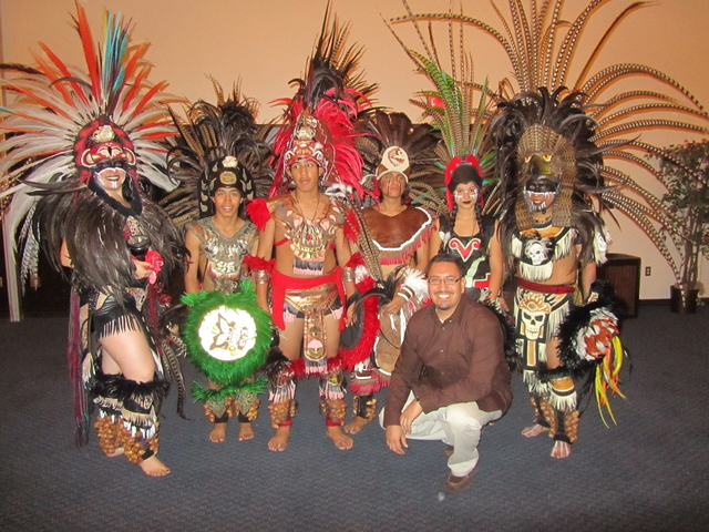 Aztec dance troupe performed for Latin American Studies week in 2011.