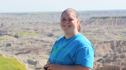 Kristi Bechtel, '14 AIS and social work graduate, who completed an internship at the Ho-Chunk nation social services.