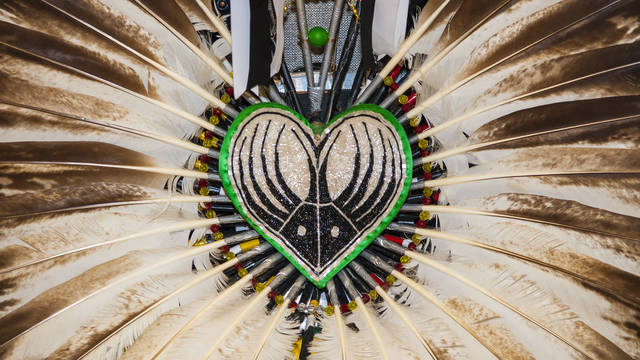 Feather headdress, Powwow