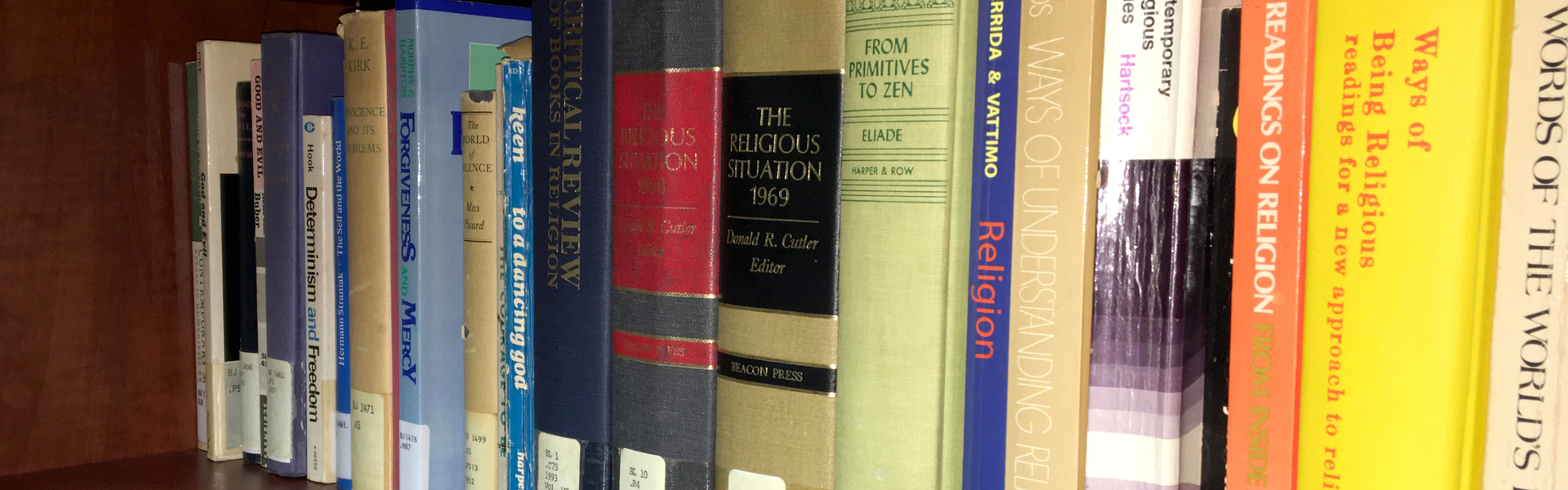 Books in philosophy and religious studies library