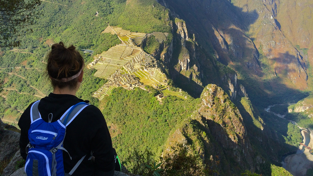 Student oversees Chilean Mountains side.