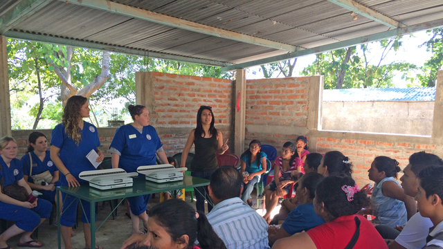 Students teaching students in El Salvador.