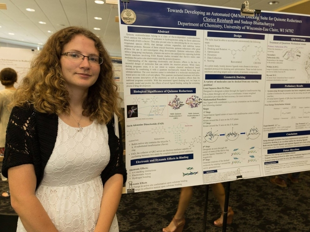 Clorice Reinhardt presents her research