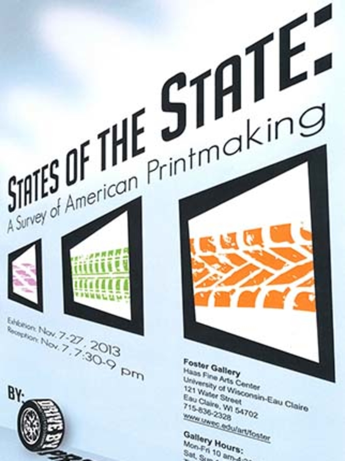 State of the State printmaking exhibit poster