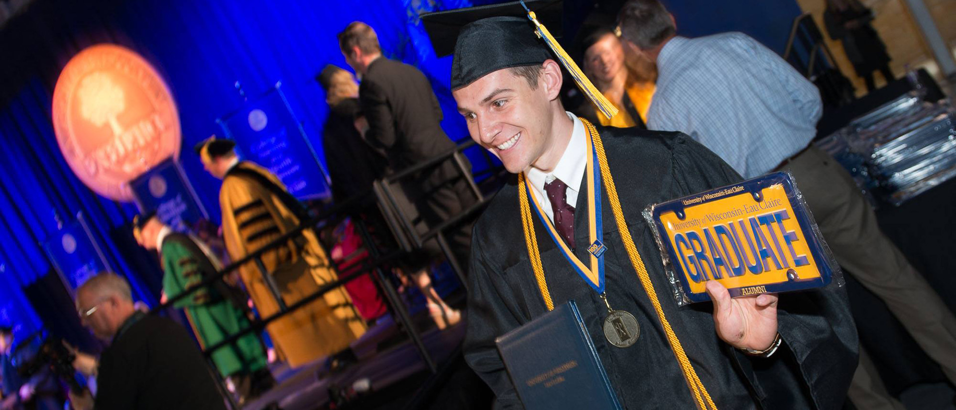 May 2017 graduate at commencement
