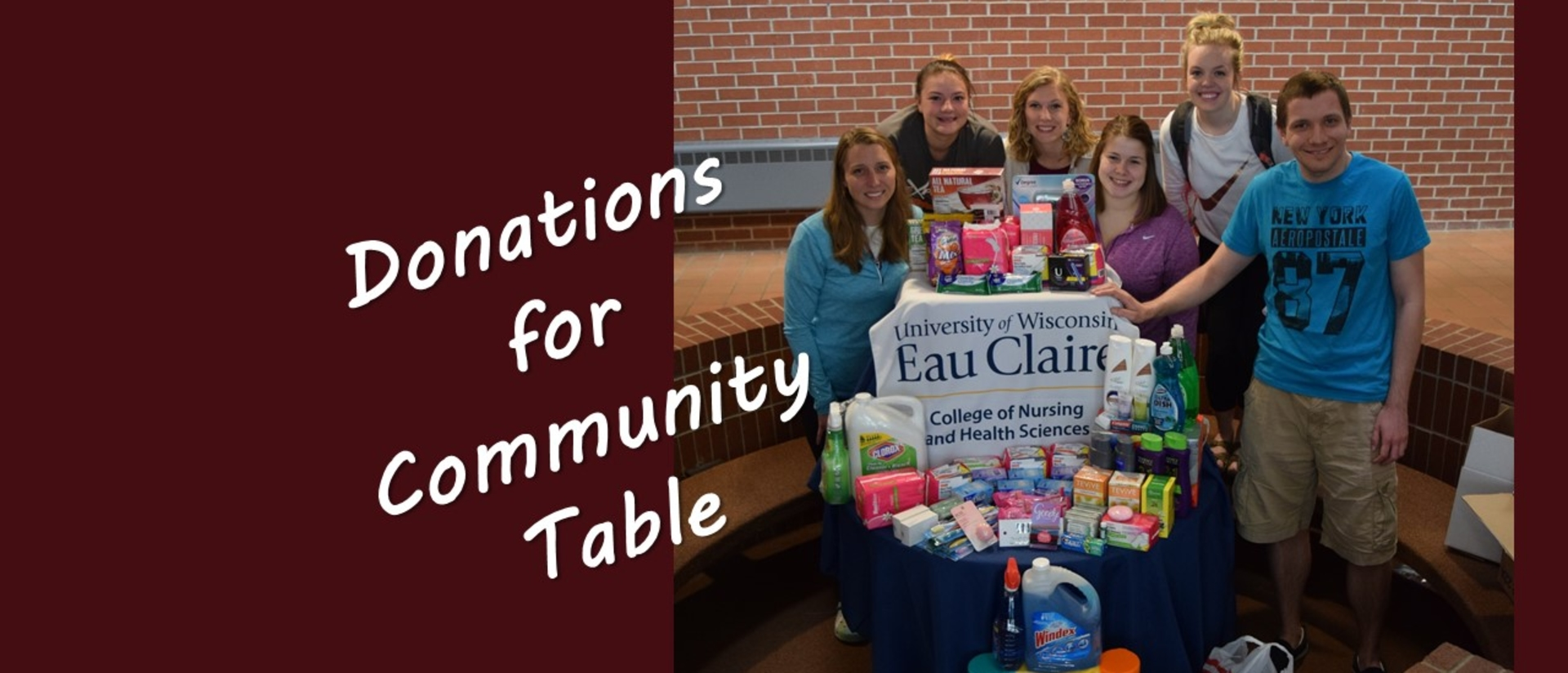 UW-Eau Claire nurses donate to Community Table