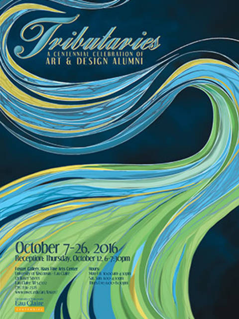 Tributaries exhibit poster