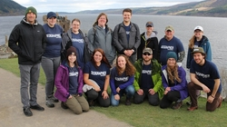 UW-Eau Claire geography students and faculty.