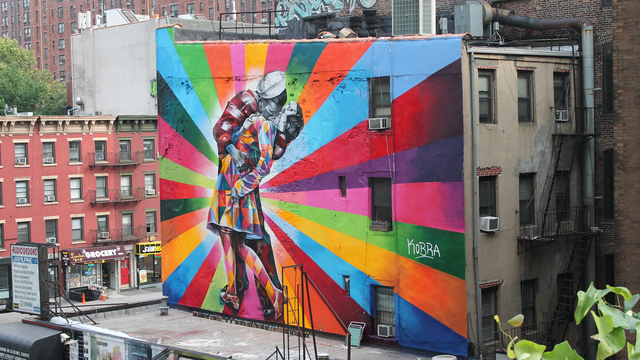 Mural art in Chelsea, New York City