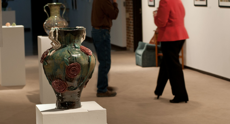Pieces in Foster Gallery for juried art show