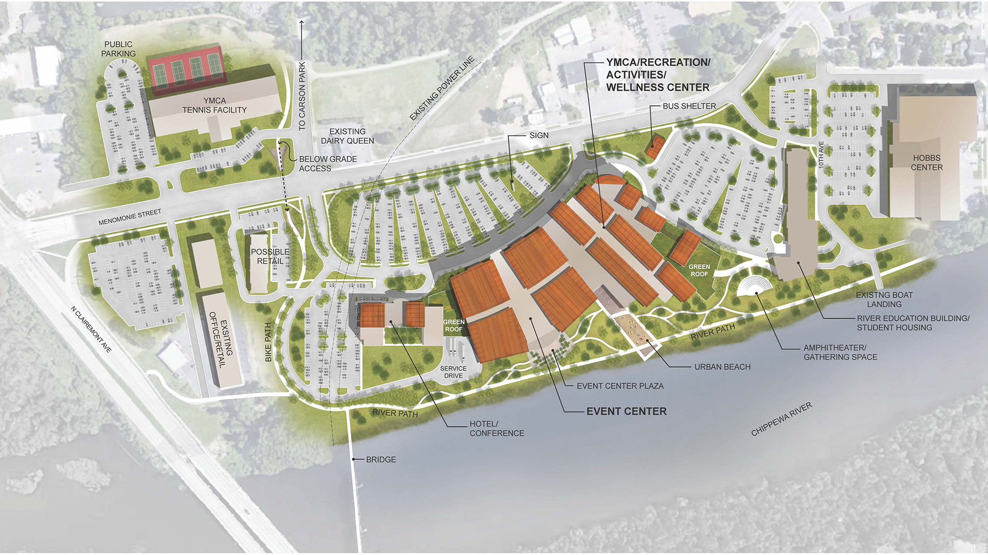 Big river education center to be first building on for Building site plan