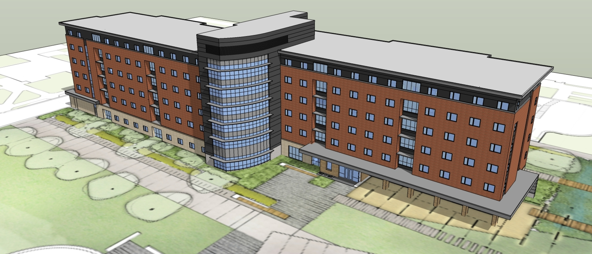 New UW-Eau Claire residence hall concept drawing