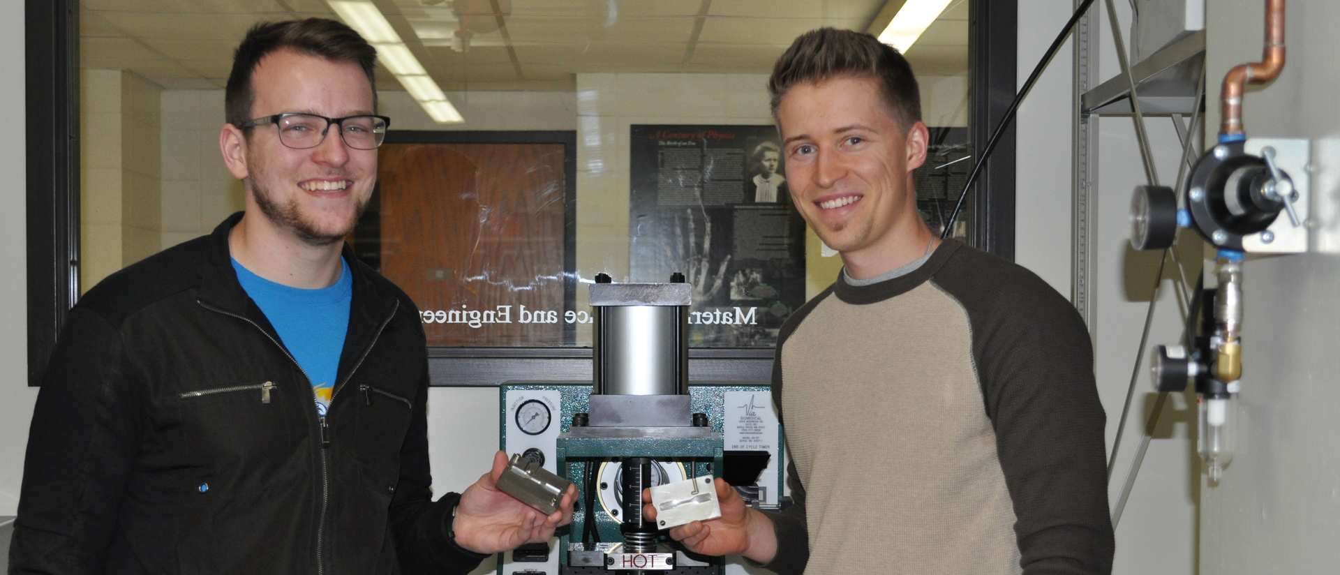 Peter McCamley and Mathew Guenther capstone project injection molding for MS+E