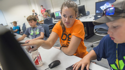 Katie Albin, a fifth-grade teacher at an Eau Claire elementary school, was one of three teachers who were part of this summer's Blugold Beginnings coding camp. She hopes to incorporate coding into her classroom.