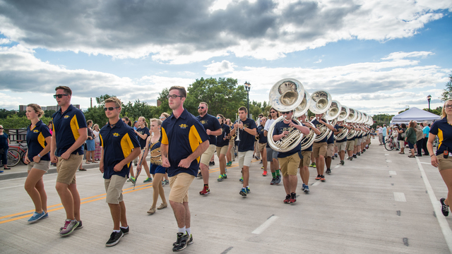 BMB performs for the Water Street bridge opening in 2016