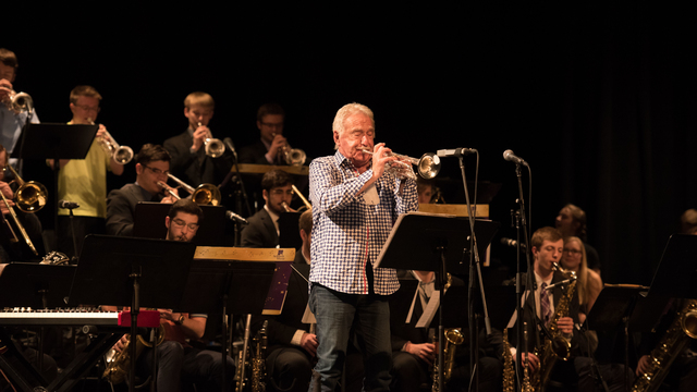 Doc Severinsen rehearsin with Jazz One