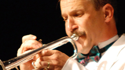 Robert Baca playing trumpet