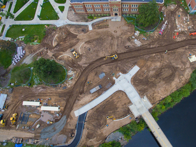 Garfield project aerial shot