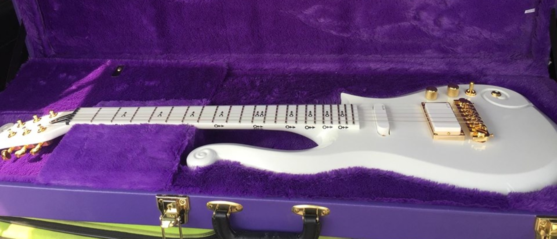A guitar from the collection of the late superstar Prince.