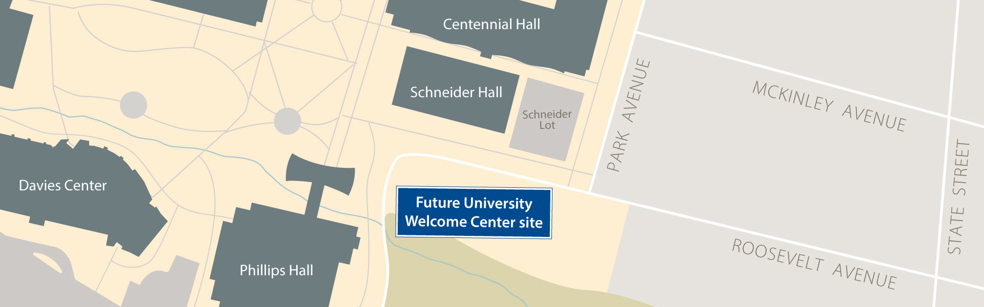 University Welcome Center location map
