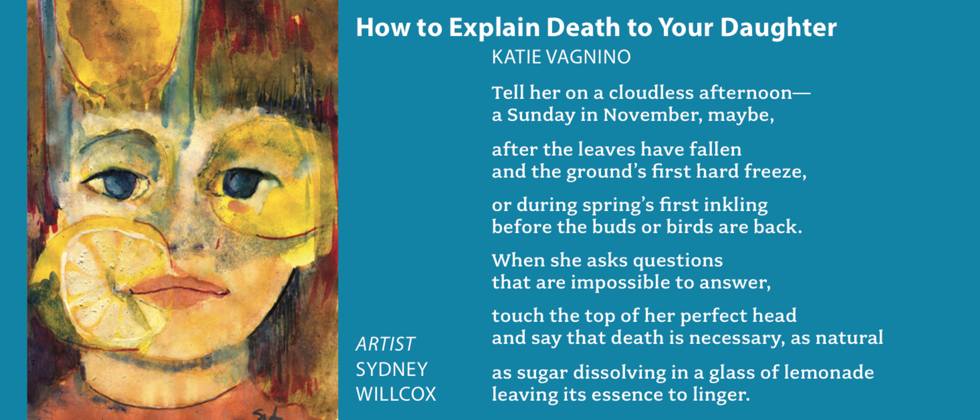 How to Explain Death to Your Daughter Poem