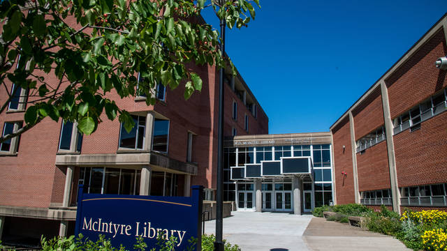 McIntyre Library entrance