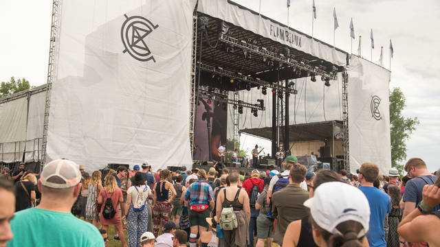 Crowd watching performance at the the Eaux Claires festival