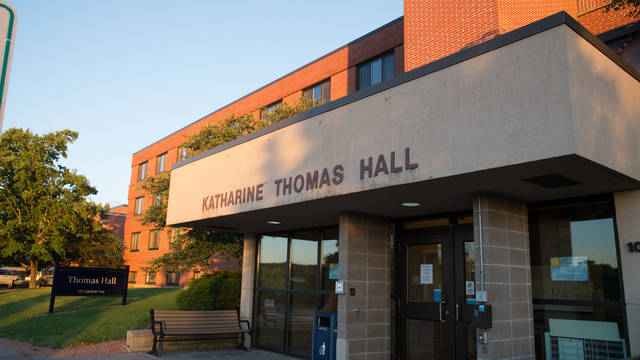 Exterior shot of Katharine Thomas Hall