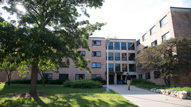 Exterior shot of Sutherland Hall