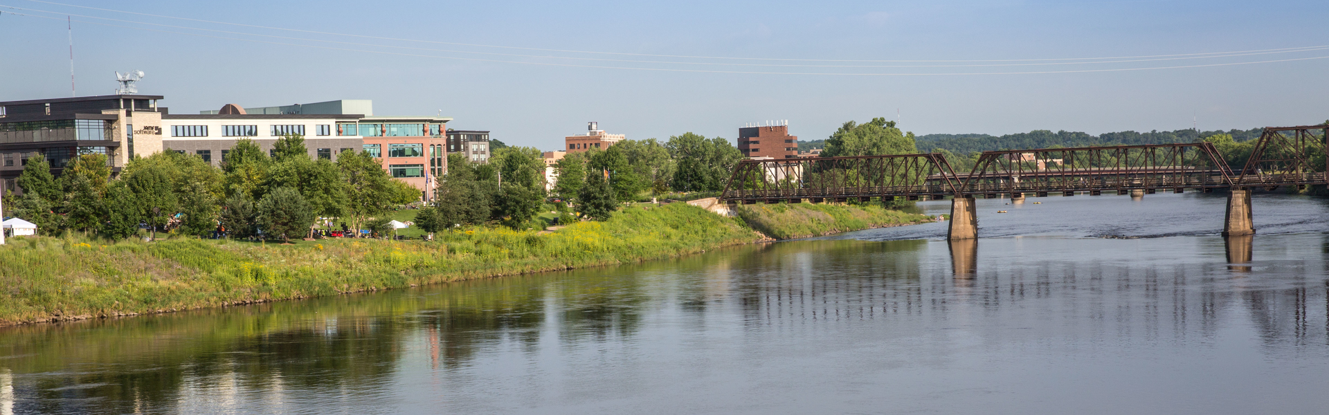 Eau Claire downtown landscape shot