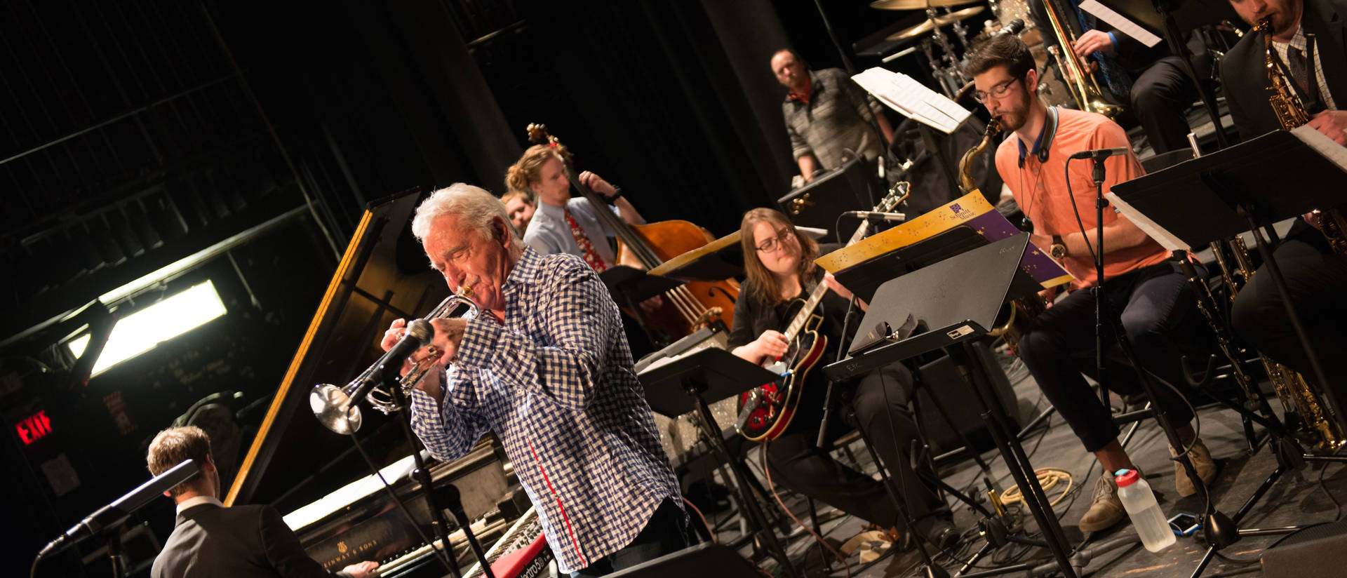 Doc Severinsen rehearsing with Jazz One