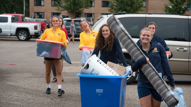 Several UWEC caring items during move in day