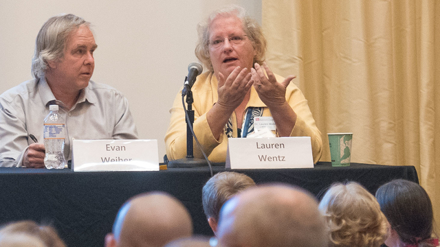 Panel during UW-Eau Claire and UW Barron County forum