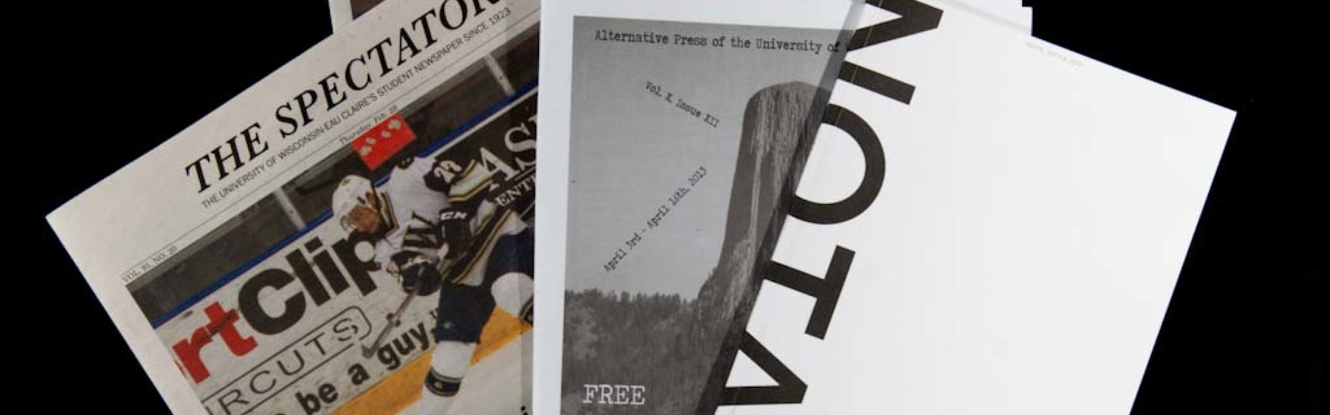 Various UWEC student publications