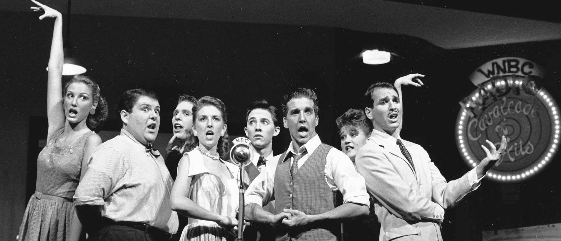 "Cast members from ""Radio Cavalcade of Hits,"" summer 1987"