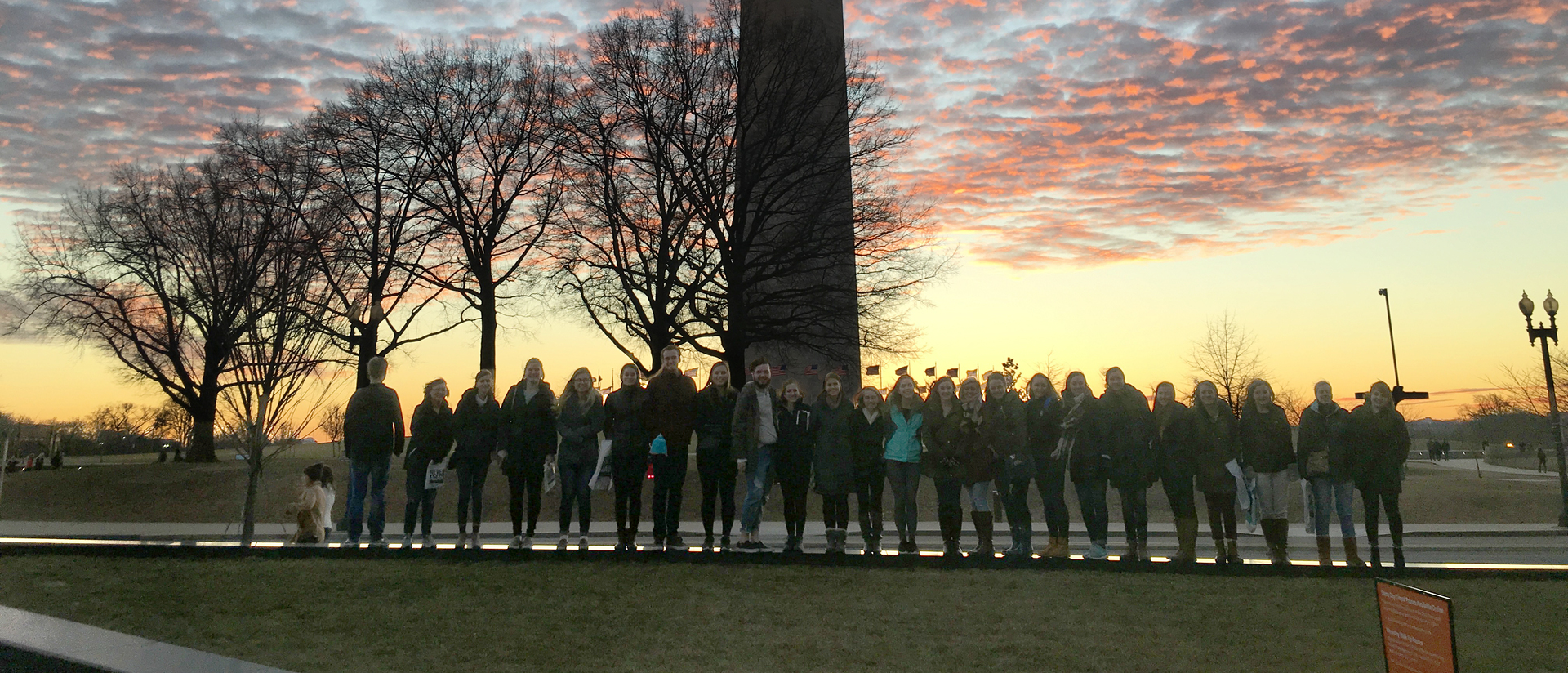 Blugolds on Winterim immersion experience in Washington, D.C.